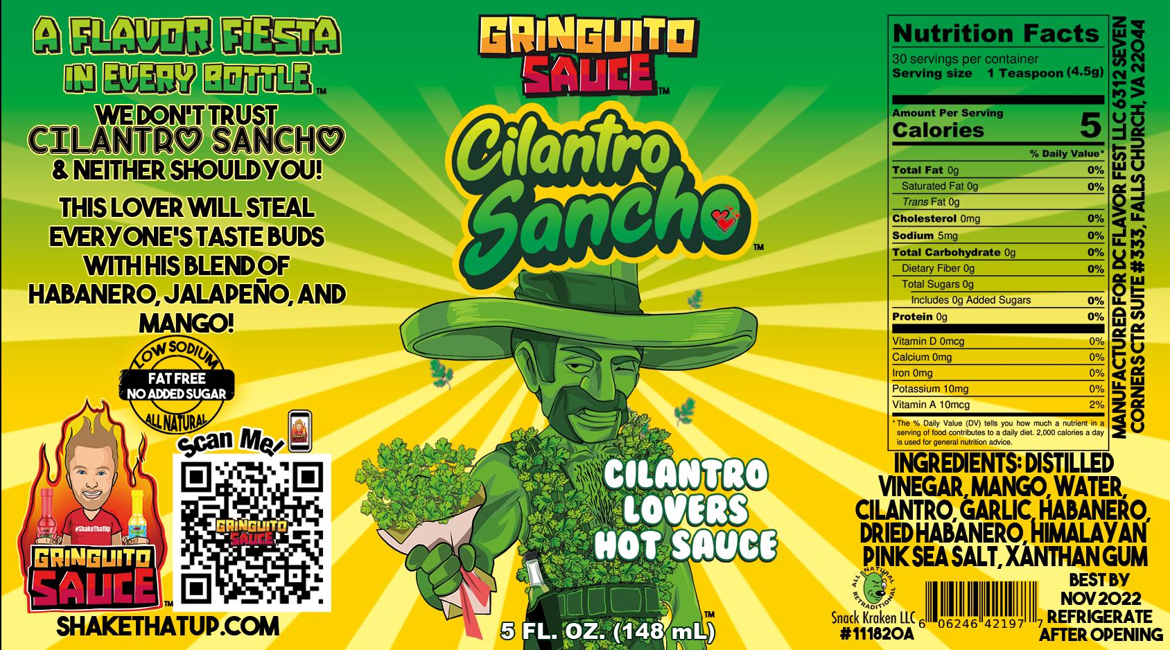 Cilantro-sancho-Label